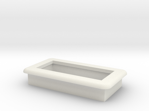 "0.28"" Voltmeter Bezel/Cradle - v2 in White Natural Versatile Plastic"