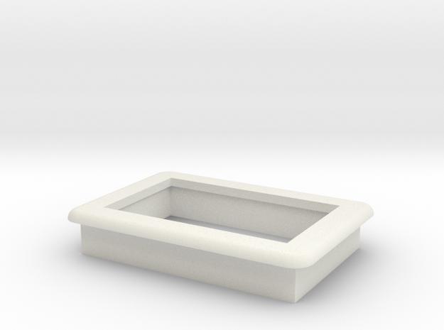 "0.36"" Voltmeter Bezel/Cradle - v2 in White Natural Versatile Plastic"