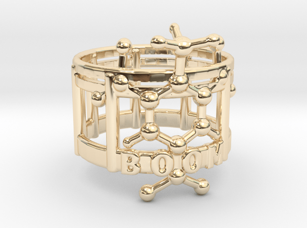 TNT boom ring in 14k Gold Plated Brass