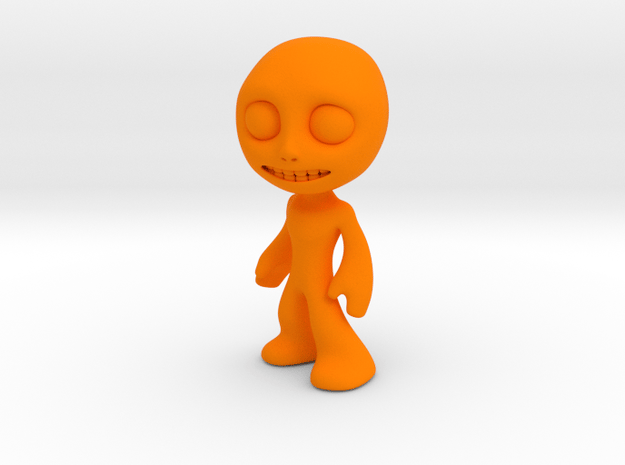 MTI-newfella pose 4 in Orange Processed Versatile Plastic
