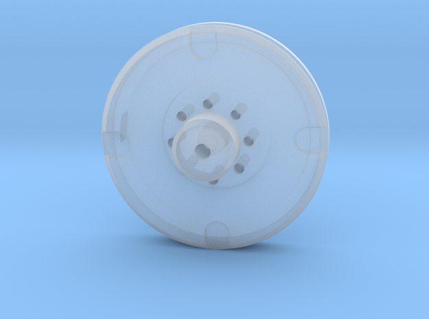 Mini Eye Plate in Smooth Fine Detail Plastic