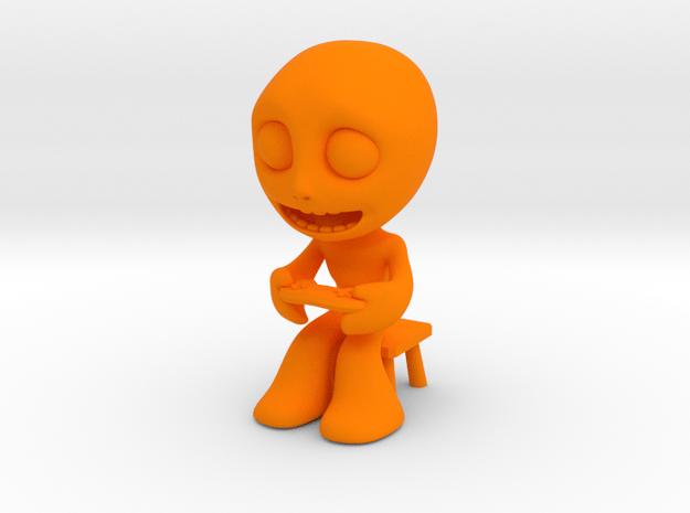 MTI-newfella pose 1 in Orange Processed Versatile Plastic