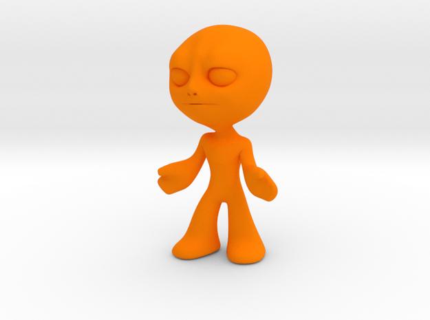 MTI-newfella pose6 in Orange Processed Versatile Plastic