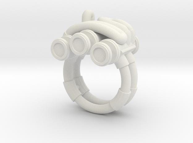 Piston Ring in White Natural Versatile Plastic