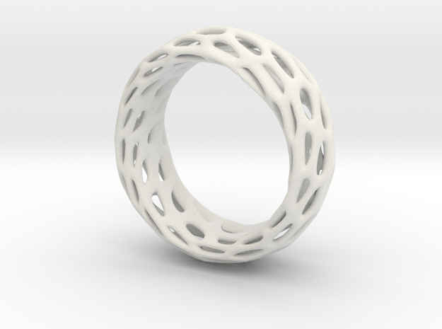 Trous Ring Size 5 in White Natural Versatile Plastic