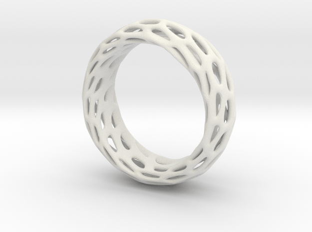 Trous Ring Size 7 in White Natural Versatile Plastic