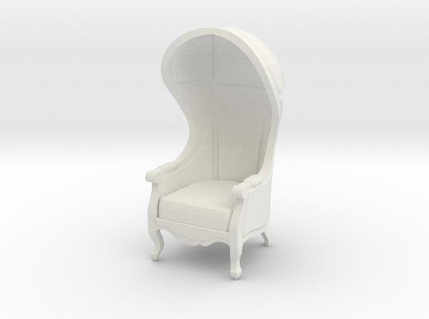 1:24 Half Scale Untextured Carrosse Chair in White Natural Versatile Plastic