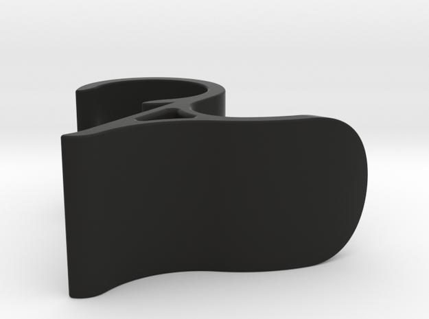 Hanger for heated towel rack in Black Natural Versatile Plastic