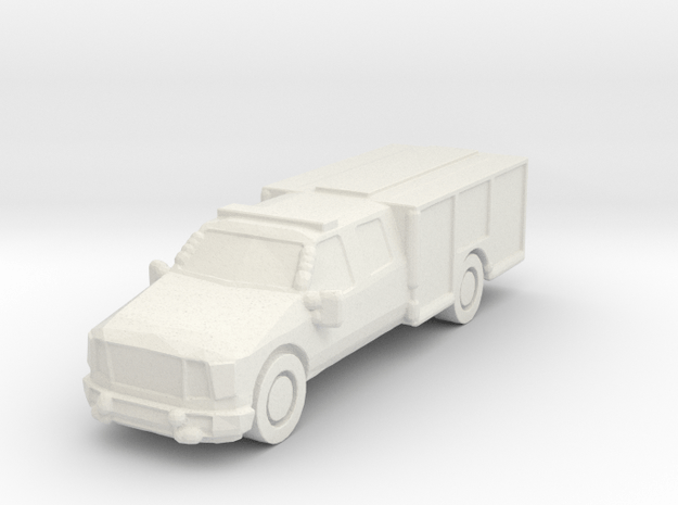 Ford Light Rescue/Squad 1:285 scale in White Natural Versatile Plastic: 6mm