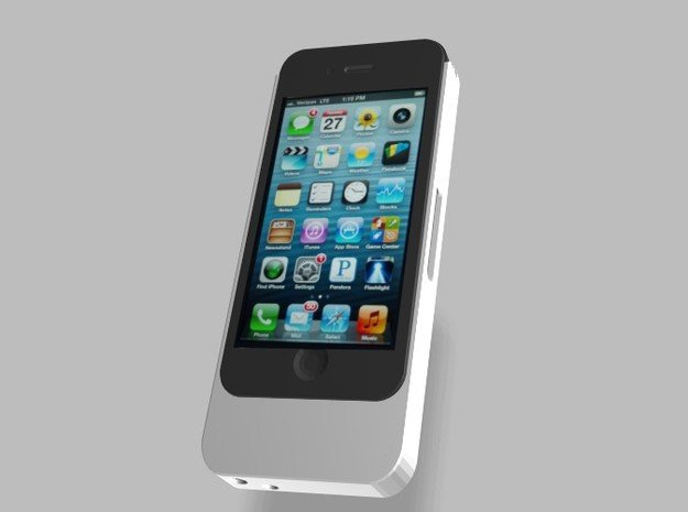iPhone5 5s 5c 1500mah Charger with USB Power Out in White Natural Versatile Plastic
