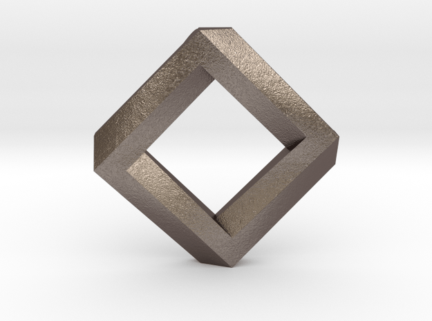 rhombus impossible in Polished Bronzed Silver Steel