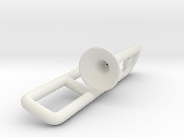 Trombone for Minifigures in White Natural Versatile Plastic