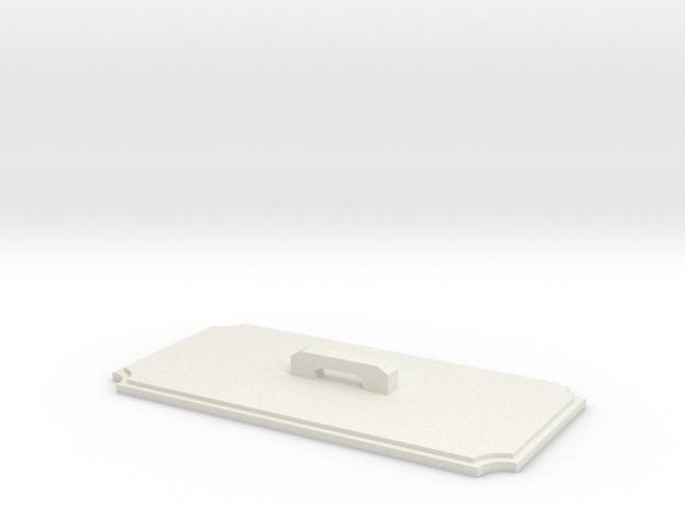 Hammond 1590B Cutout Template Tool in White Natural Versatile Plastic