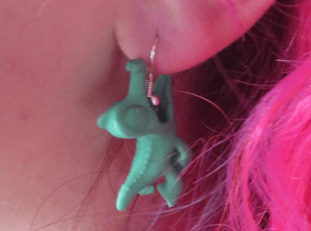 Gummy Earring in Green Processed Versatile Plastic