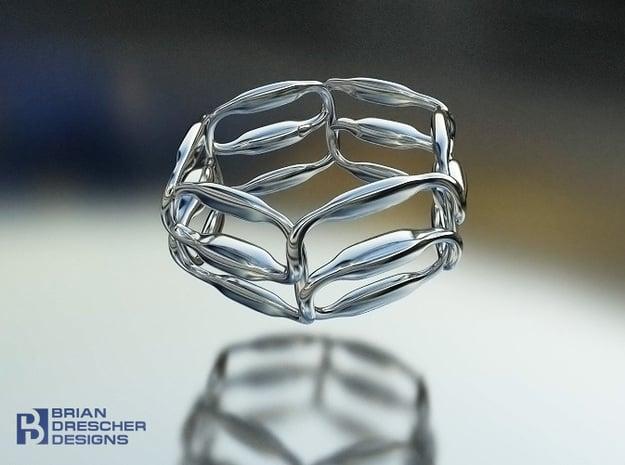 18 Padz Conduit Ring in Natural Silver