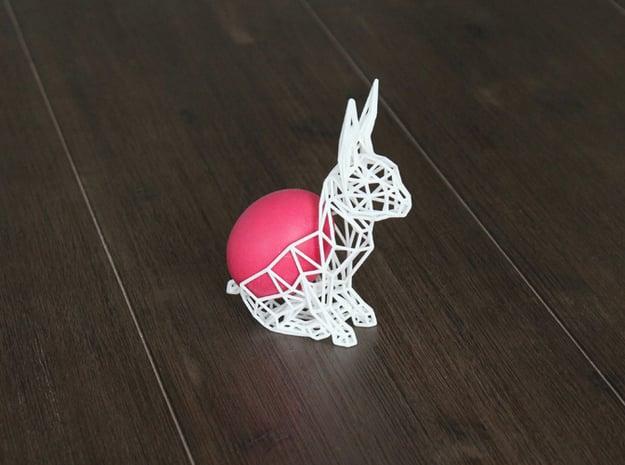 Easter Bunny in White Natural Versatile Plastic
