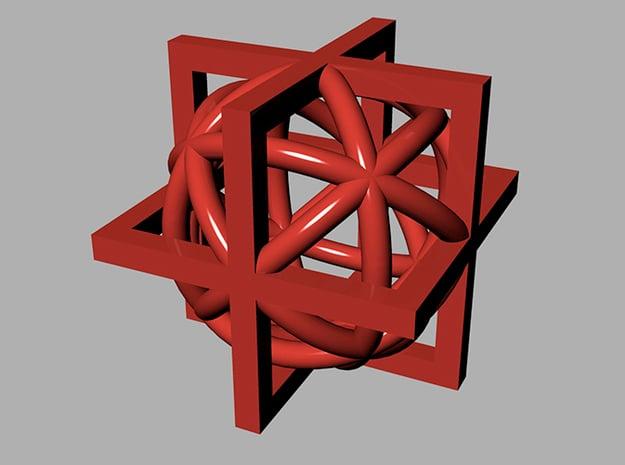 ballcage in Red Processed Versatile Plastic
