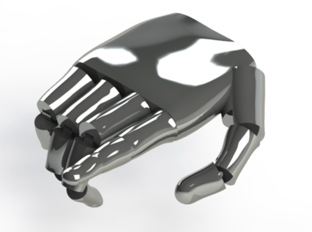 Robotic hand archetype 01 in White Natural Versatile Plastic