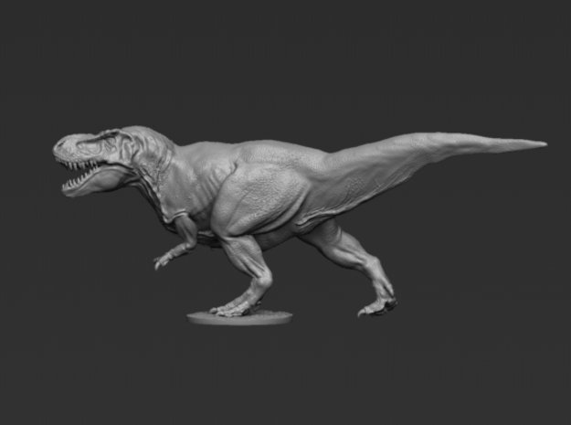 T Rex v2 8cm in Smooth Fine Detail Plastic