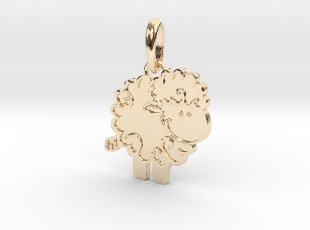 Little Lamb pendant in 14k Gold Plated Brass