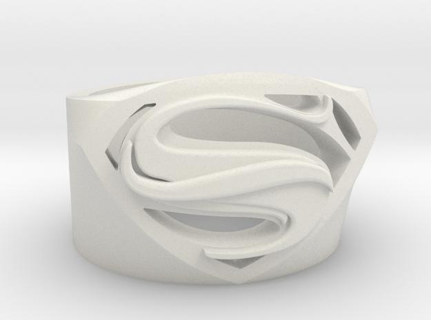 SuperManRIng - Man Of Steel Size US11.5 in White Natural Versatile Plastic
