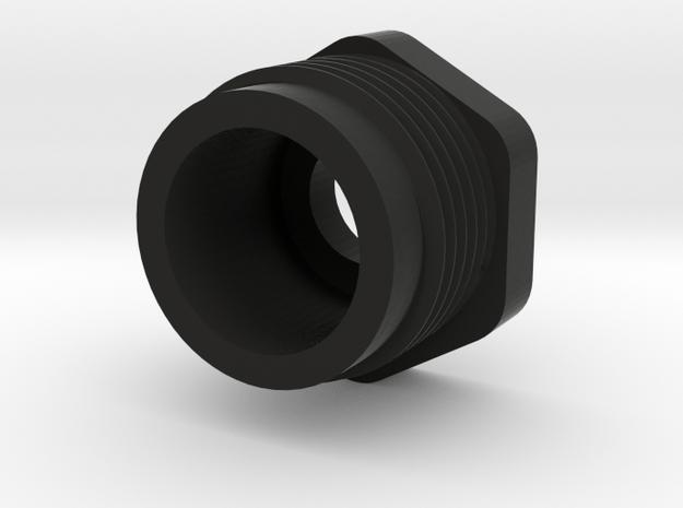 Delta Shock Cylinder Nut, 1257 in Black Natural Versatile Plastic