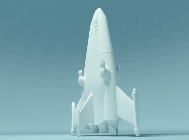 B-330 Wedge in White Natural Versatile Plastic