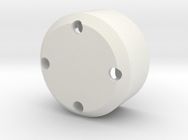 Eye Gimble V1.5 in White Natural Versatile Plastic