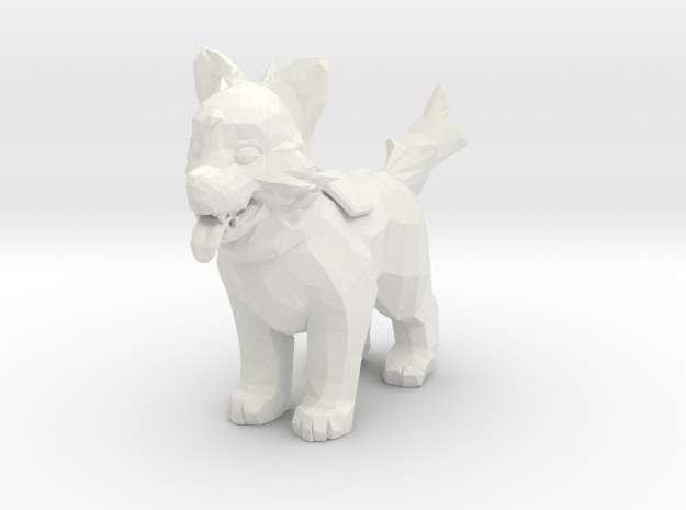 Icewrack Fluffy Wolf - Toys in White Natural Versatile Plastic