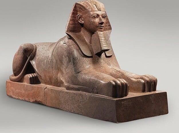 Hatshepsut Sphinx - Antiques in White Natural Versatile Plastic
