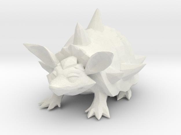 Armadillo - Toys in White Natural Versatile Plastic