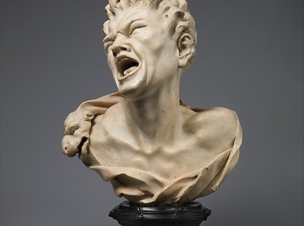 Bust Of Marsyas - Antiques in White Natural Versatile Plastic