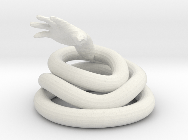 Hand from Hell  in White Natural Versatile Plastic