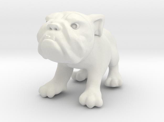 Bulldog - Toys in White Natural Versatile Plastic