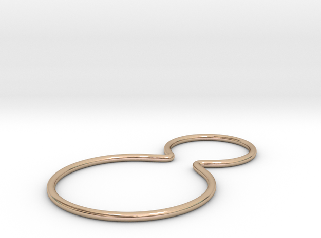 Double joined band ring in 14k Rose Gold Plated Brass