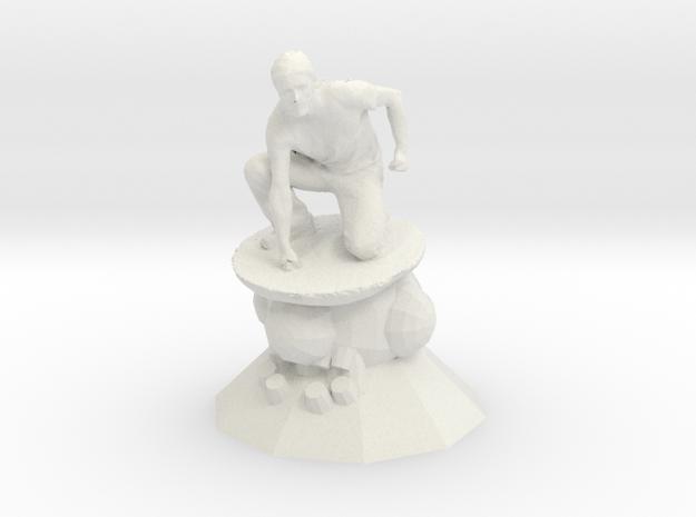 Worlds Collide - Sculpture Antique in White Natural Versatile Plastic