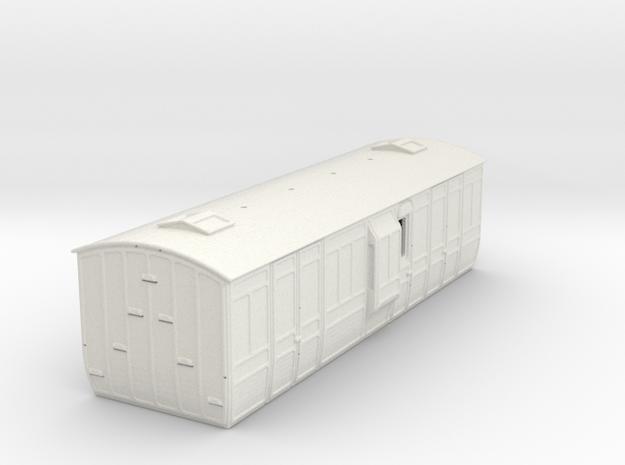 4mm scale Metropolitan Railway Dia.123 OO Passenge in White Natural Versatile Plastic