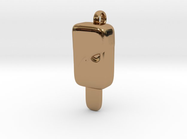Emo Ice Cream pendant in Polished Brass