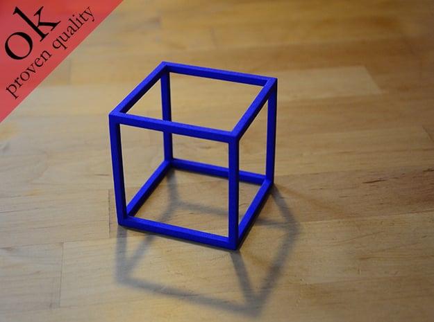 cubemodel in Blue Processed Versatile Plastic