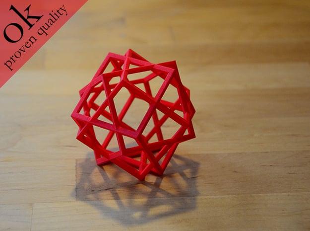 3cubes in Red Processed Versatile Plastic