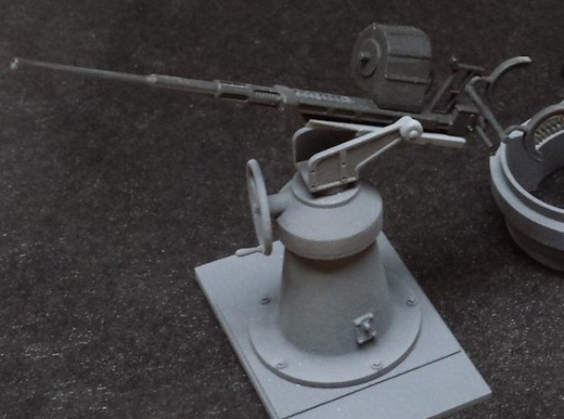 1:20 scale 20mm Oerlikon Set (WITH early Mk.4 Pede in Smooth Fine Detail Plastic