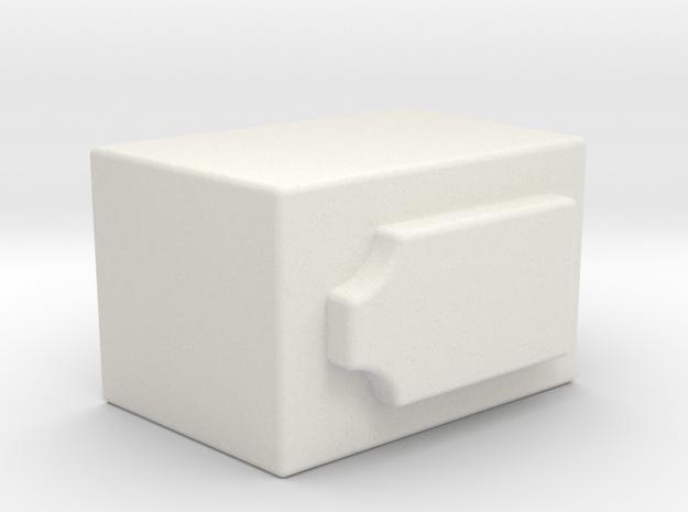 Trap Knob 2 in White Natural Versatile Plastic