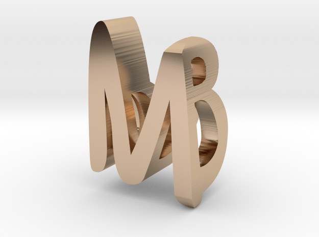 MB MakerBlast pendant in 14k Rose Gold