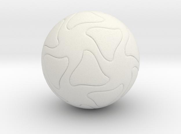 Star Sphere  in White Natural Versatile Plastic