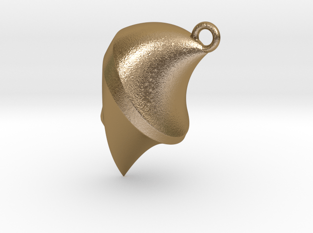 Necklace FACE in Polished Gold Steel