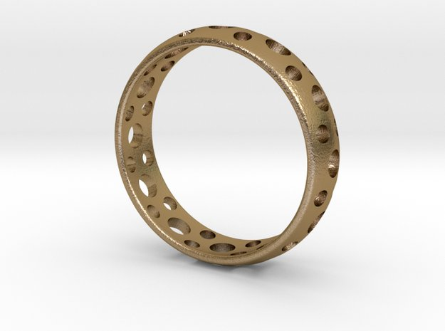 Symbol Ring in Polished Gold Steel
