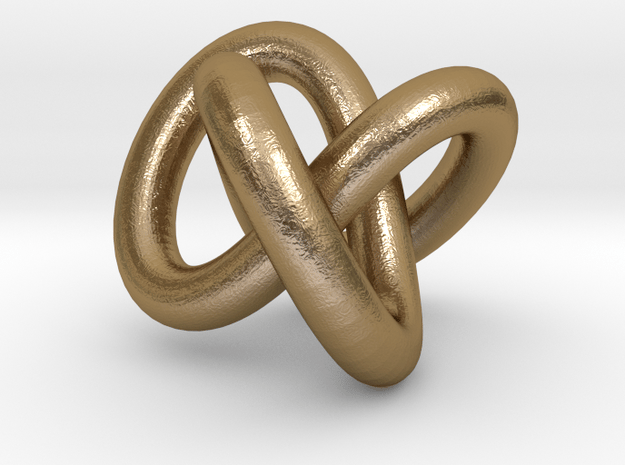 Necklace Infinity in Polished Gold Steel