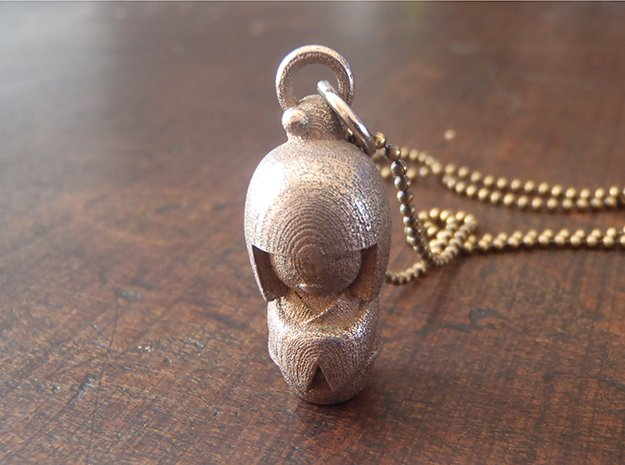 Japanese Doll in Polished Bronzed Silver Steel