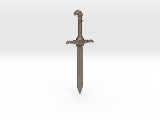 Oathkeeper Sword Pendant in Polished Bronzed Silver Steel