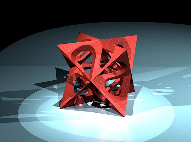tetrastern varia small in Red Processed Versatile Plastic